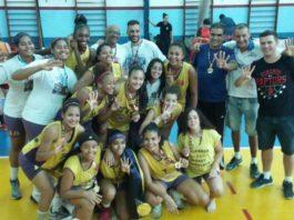As meninas da Apagebask/Guarulhos tiveram excelente rendimento / Foto: Divulgação/FPB