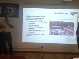 Vinícius Cardozo e Roberto Cardozo durante a apresentação / Foto: Kiko Ross-DataBasket