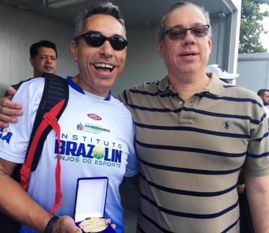 O técnico Júlio Malfi e Marcelo Sousa, diretor executivo da CBB / Foto: Kiko Ross/ASE