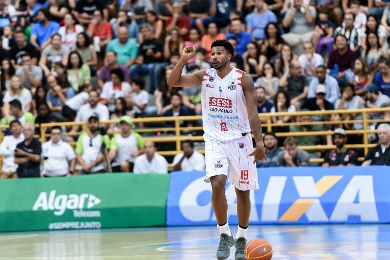 Leandrinho anotou 19 pontos em sua estreia pelo Sesi Franca Basquete / Foto: Newton Nogueira-Franca Basquete