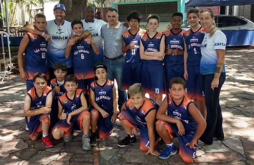 A equipe Sub-12 Masculina do Instituto Brazolin/São Bernardo fez bons jogos em sua primeira competição / Foto: Divulgação