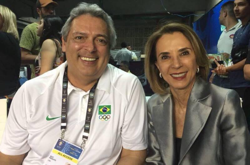 Guy Peixoto Jr e a secretária Raquel Teixeira / Foto: Divulgação/CBB