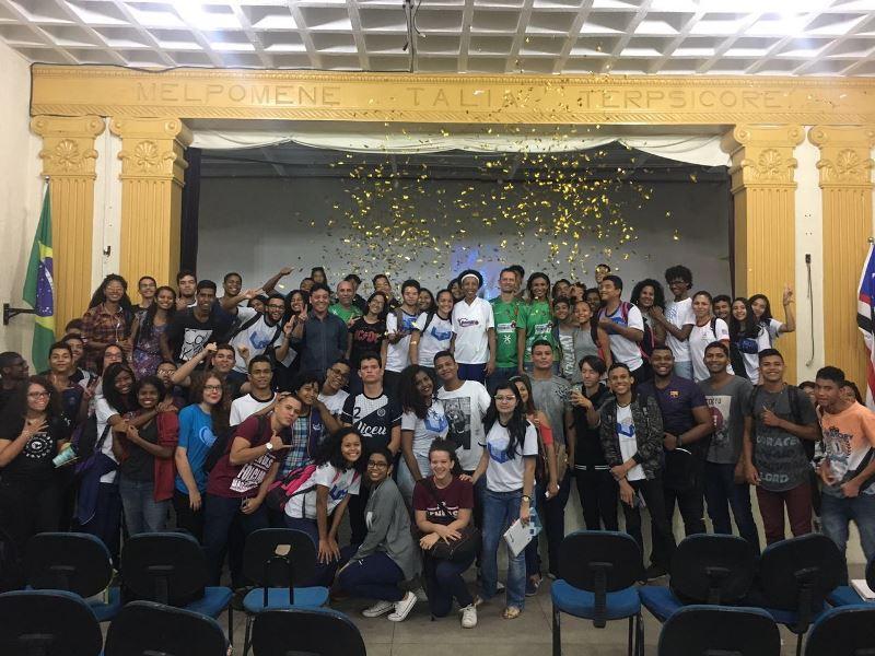 Em São Luís, Janeth Arcain falou para cerca de 140 jovens / Foto: Divulgação