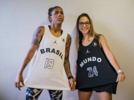 Com os uniformes, a judoca Rafaela Silva posou para fotos ao lado da skatista Pâmela Rosa / Foto: Divulgação