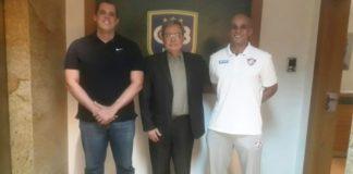 Primeiro Tenente Julio Maciel, Carlos Fontenelle e Ricardinho / Foto: Divulgação/CBB