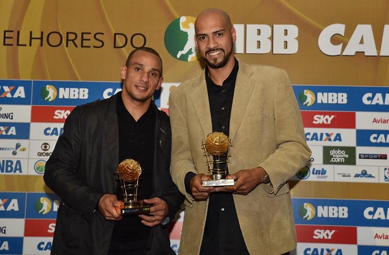 Alex (sete vezes) e Marquinhos (seis vezes) são os maiores vencedores da categoria / Foto: João Pires/LNB