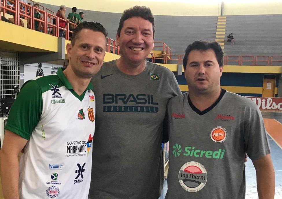 Virgil Lopez, Manoel Castro e Flavio Prado / Foto: Divulgação/CBB