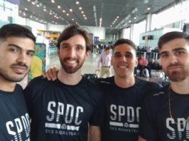 André Ferros, Jefferson Socas, Luiz Felipe Soriani e Leonardo Branquinho momentos antes do embarque / Foto: Divulgação/SPDC