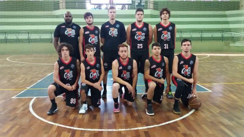 A equipe sub-21 do Conti Cola Assis Basket venceu a primeira na LBC / Foto: Divulgação