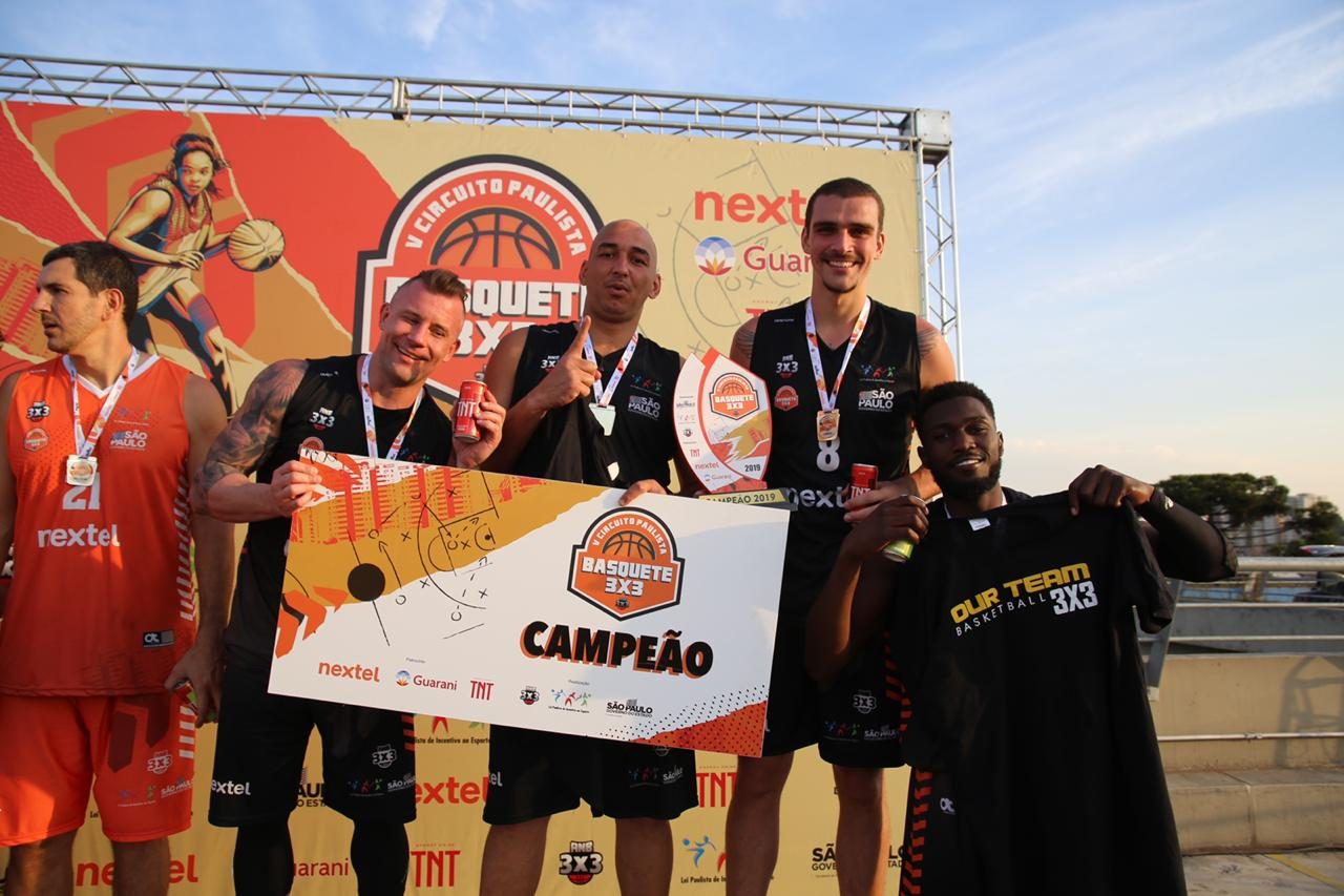 Ourteam, de Joinville, campeão na Elite Masculino / Foto: Bruno Medino/ANB 3x3