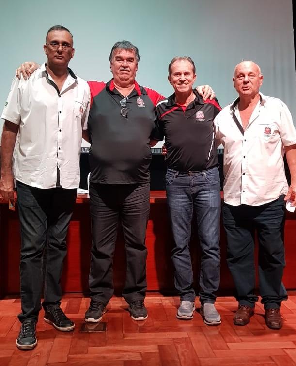 André Luiz de Almeida, Wilson Clara (assistente da chefia), Alexandre Requena (comissão técnica) e Lourenço Pacheco (diretor Regional de Bauru) / Foto: Divulgação/LBC