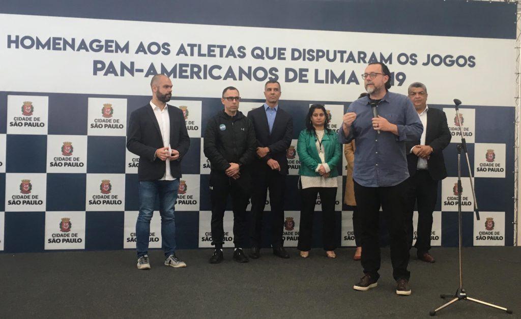 Carlos Bezerra Jr falou da importância do esporte nos dias atuais / Foto: Kiko Ross/ASE