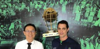 André Goda com o novo diretor das categorias de base, Zezinho Martha / Foto: Divulgação/Bauru Basket