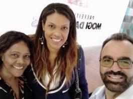 Lídia Lopes, Kelly Santos e Clodoaldo de Moraes / Foto: Divulgação/IKSM