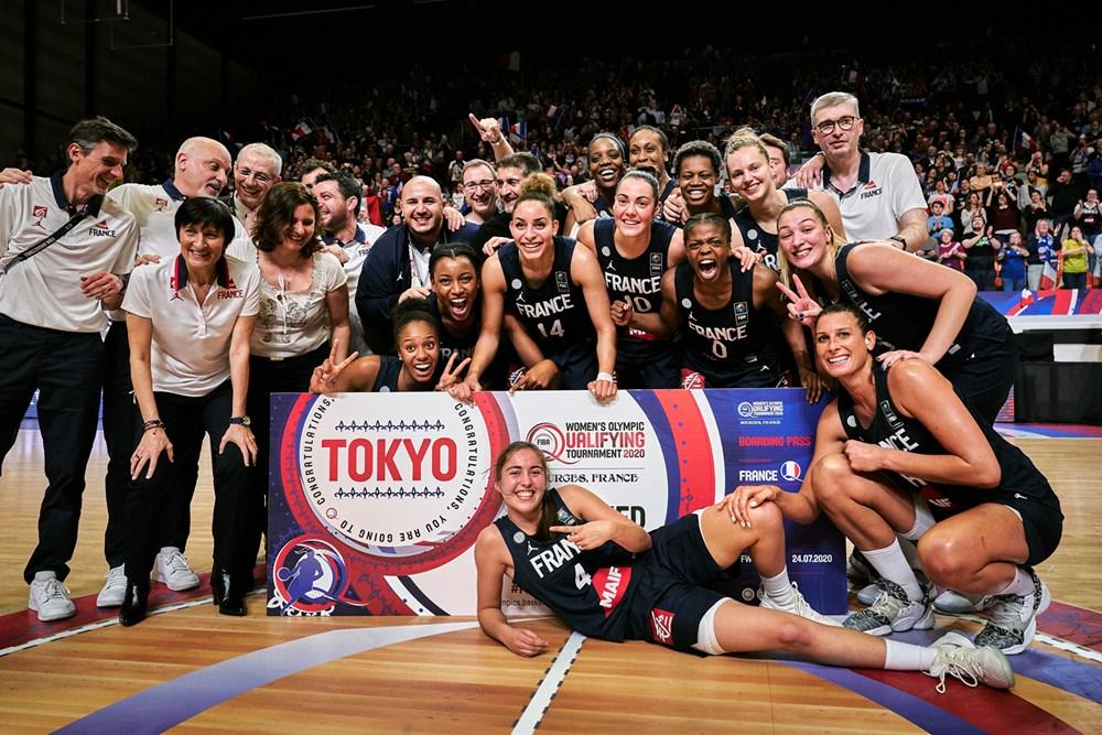 Com duas vitórias, a anfitriã França já garantiu a sua vaga em Tóquio / Foto: FIBA