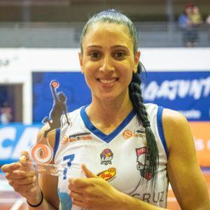Patty Teixeira recebeu o Troféu GOL / Foto: Fábio Leoni/Divulgação