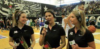 Giovanna Terezzino, Luciana Mariano e Caroline Patatt / Foto: Divulgação/LNB