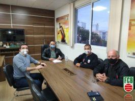 Fábio Deschamps, Rui Godinho, Luiz Gastão Dubois e Oscar Archer / Foto: Comunicação Fesporte
