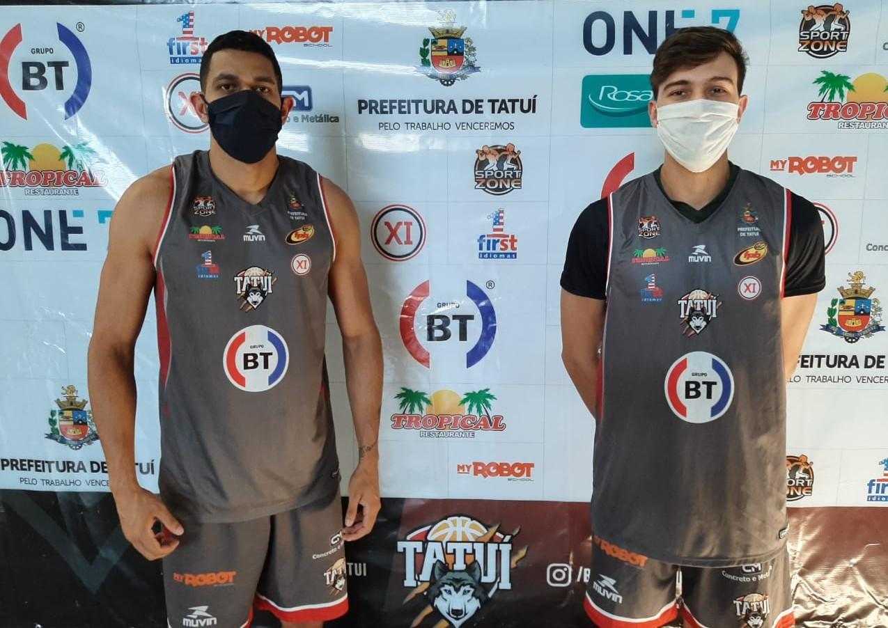 """Elivelton Soares e Henrique Cerimelli destacam segurança da """"bolha"""" criada pelo Basquete Tatuí / Foto: Divulgação/Basquete Tatuí"""