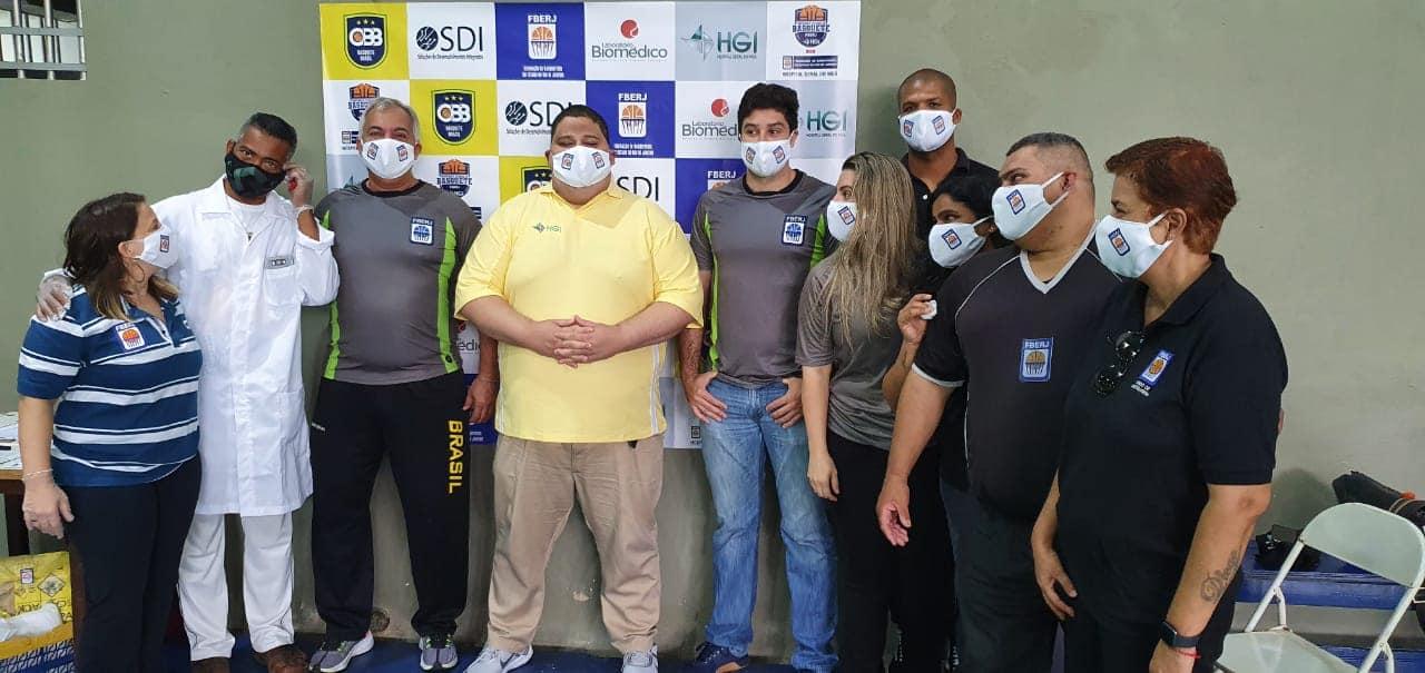 Graças aos parceiros da FBERJ, todos os envolvidos com o campeonato passaram pelo teste de detecção da Covid-19 / Foto: Divulgação/FBERJ