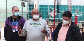 Oliveira, Galdino e Ferrari na abertura do Camp / Foto: Kiko Ross/ASE